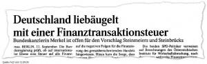 Deutschland plant eine Finanztransaktionssteuer