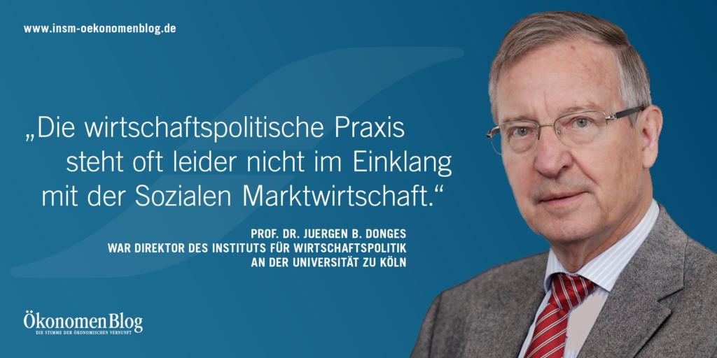 INSM Botschafter Juergen Donges