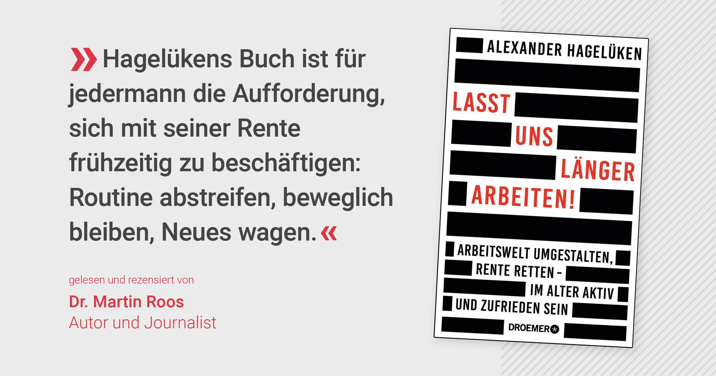 Hagelüken-Buch: Gute Renten-Reform ist möglich